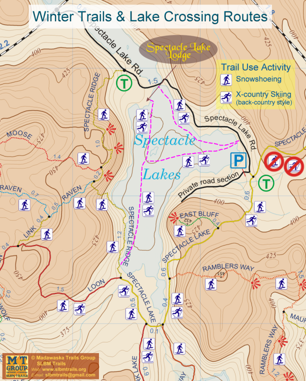 Winter Trails @ Spectacle Lake map 2020